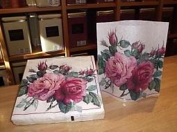 Windlicht English Rose