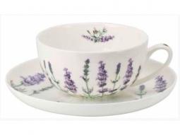 Teetasse Lavendel Fine Bone China