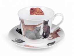 Cats Galore Jumbotasse Fine Bone China..