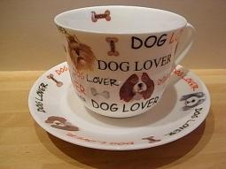 Dog Lovers Jumbotasse Fine Bone China