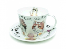 Animal Cat Walk Jumbotasse Fine Bone C..
