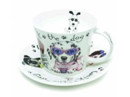 Animal Dog Walk Jumbotasse Fine Bone C..