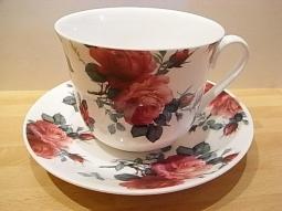 English Roses Chintz Jumbotasse Fine B..