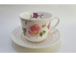 Rose du Temps Jumbotasse Fine Bone China