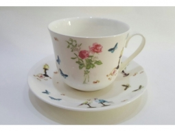 Perroquet Jumbotasse Fine Bone China /..