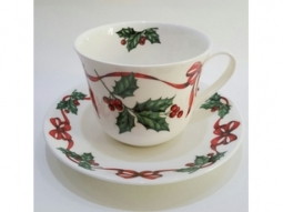 Christmas Ribbon Jumbotasse Fine Bone ..
