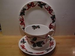 Christmas Ribbon Gedeck Fine Bone China