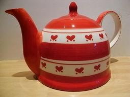 Teekanne Keramik Herzchen 1,7l