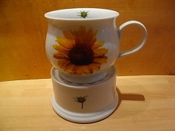 Becher auf Stövchen 2-teilig Sonnenblume