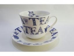 English Tea blue Jumbotasse Fine Bone ..