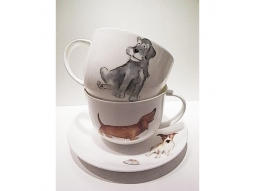 Lyrics Dogs Jumbotasse Fine Bone China