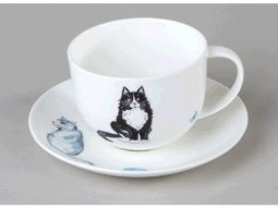 Lyrics Cats Jumbotasse Fine Bone China