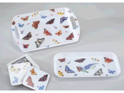 Tablett Butterfly Garden