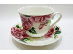 Camelie Jumbotasse Fine Bone China