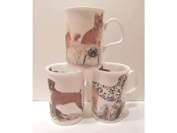 Dogs Galore Henkelbecher Fine Bone China