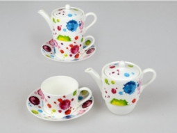 Tea for 1 Alice 3tlg. Splash Bone China