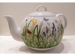 Porzellan - Teekanne Sommergarten
