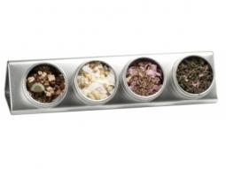 Dosendisplay silber Teedosen 2 Stück