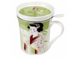 Deckelbecher Geisha