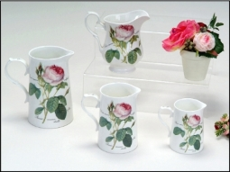Krüge Redoute Roses aus Bone China mit..