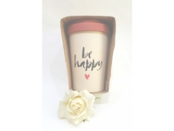 Happy calligraphy Bamboo-Cup 400ml