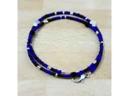 Armband blau-schwarz handmade