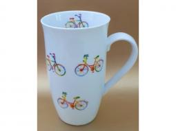 """Henkelbecher """"Regenbogen Fahrrad"""" 0,5l"""