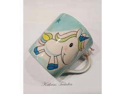 Einhornbecher 400ml Keramik