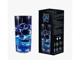Leuchtglas blau