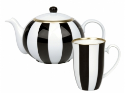 Tealicious Set 'Black & White Stripes'..