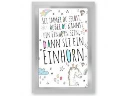 """""""Einhorn"""" Teepostkarte"""