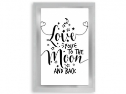 """Love Moon"" Teepostkarte"