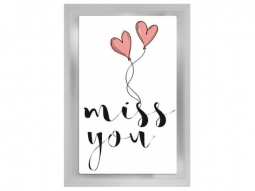 """miss you"" Teepostkarte"