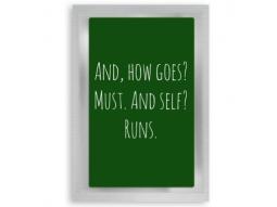 """Runs"" Teepostkarte"
