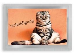 """Tschuldigung"" Teepostkarte"