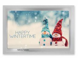 Frohe Weihnachten Teepostkarte
