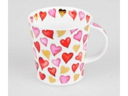 Becher Lovehearts rosa