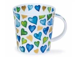 Becher Lovehearts blau