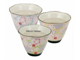 Japan Keramik Teecup Yuzuki 6 Stück