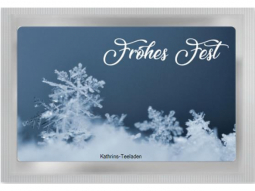 Frohes Fest Teepostkarte
