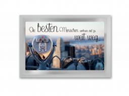 Tee-Postkarte Die bessten Menschen woh..
