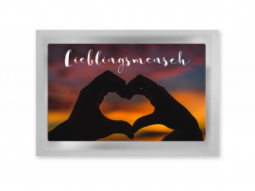 """Tee-Postkarte """"Lieblingsmensch"""""""