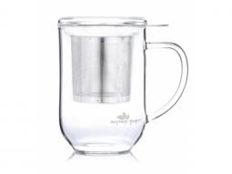 Glas Deckelbecher 'Theodor' 500 ml