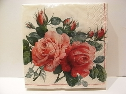 Serviette Engl.Rose