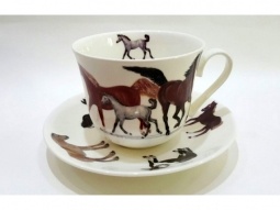 Horses Jumbotasse Fine Bone China
