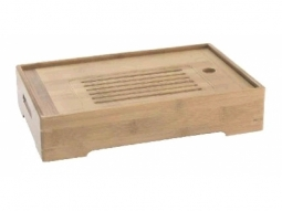 Holz-Tablett-Teetisch