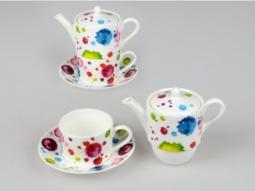 Tea for 1 Alice 3tlg. Splash Bone China