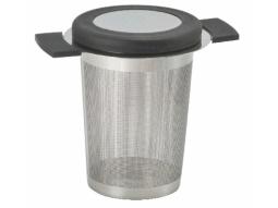 Edelstahlsieb 'Anti-Slip' H 8 cm schwarz