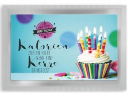 """Birthday"" Kalorienkerze Teepostkarte"