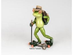 Frosch als Wanderer